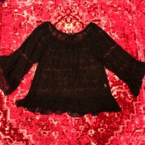 Pretty black bohemian top